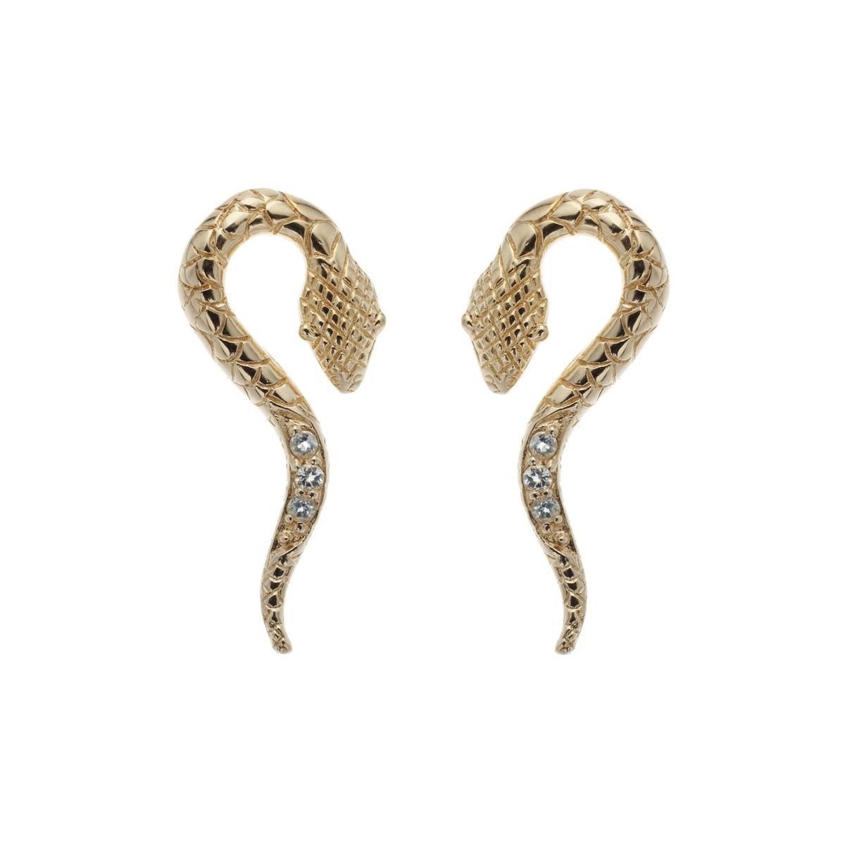 Boucles d'oreilles serpent